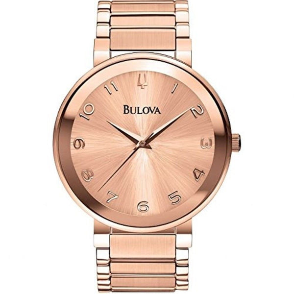 Bulova Women's 97L127 'Classic' Rose-Tone Stainless Steel Watch