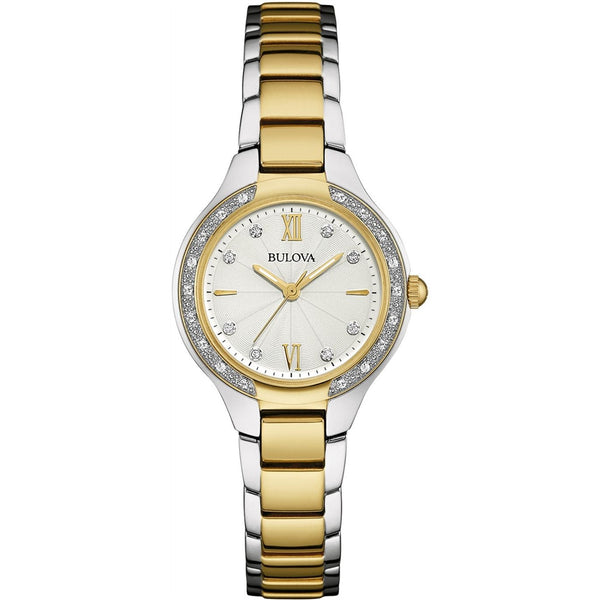 Bulova Women's 98W221 Diamond Two-Tone Stainless Steel Watch
