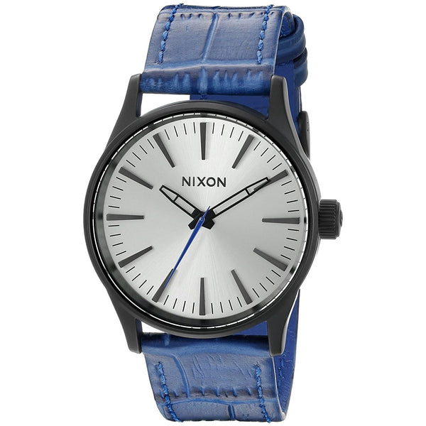 Nixon Men's A377-2131 'The Sentry' Blue Leather Watch