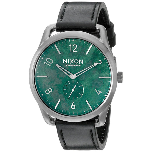 Nixon Men's A465-2069 'C45' Black Leather Watch