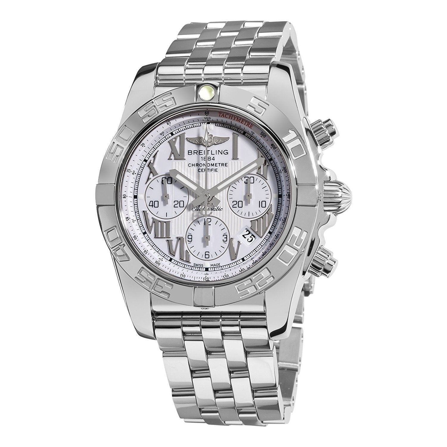 buy online 9814a b698b Breitling Men's AB011012-A690 'Chronomat 44' Chronograph Automatic  Stainless Steel Watch