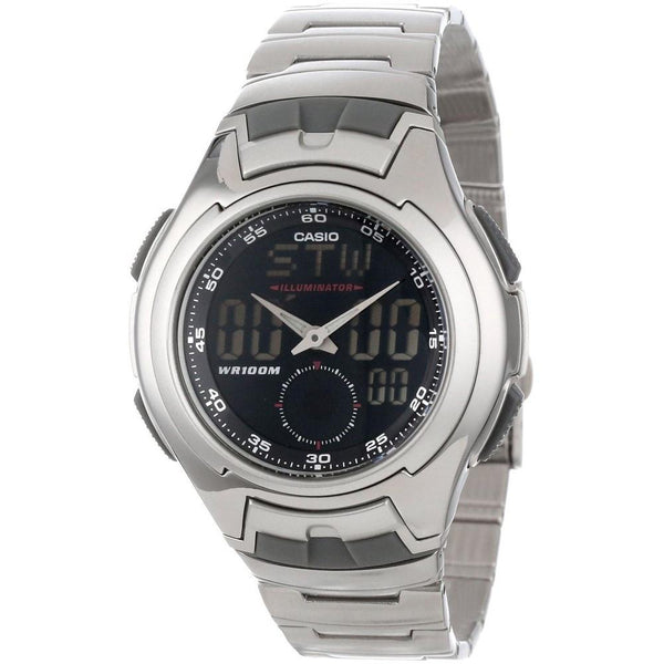 Casio Men's AQ-160WD-1BV 'Ana-Digi' Analog-Digital Stainless Steel Watch
