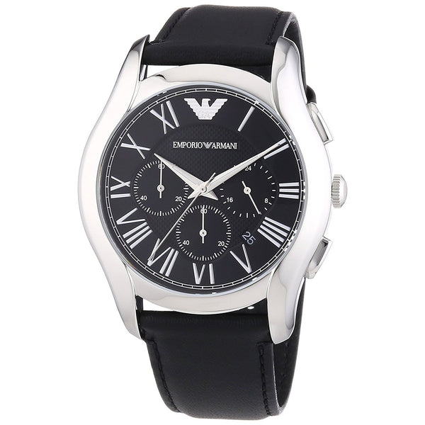 Emporio Armani Men's AR1700 'Classic' Chronograph Black Leather Watch