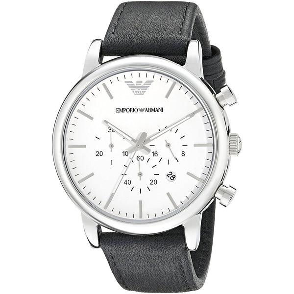 Emporio Armani Men's AR1807 'Classic' Chronograph Black Leather Watch