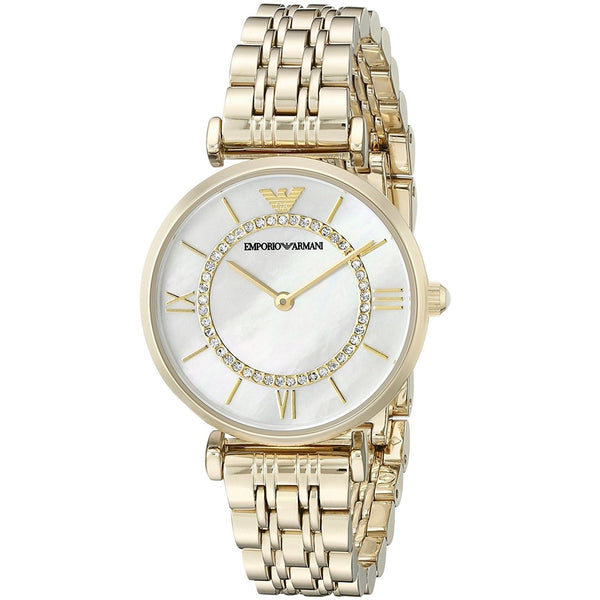 Emporio Armani Women's AR1907 'Classic' Crystal Gold-Tone Stainless Steel Watch