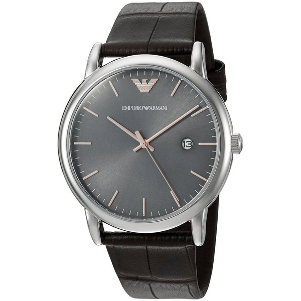 Emporio Armani Men's AR1996 'Dress' Brown Leather Watch