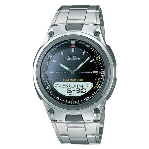 Casio Men's AW-80D-1AV 'Classic' Analog-Digital Stainless Steel Watch