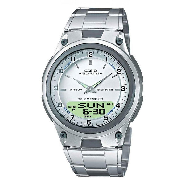 Casio Men's AW-80D-7AV 'Classic' Analog-Digital Stainless Steel Watch