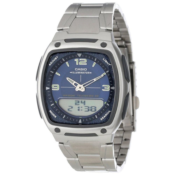 Casio Men's AW-81D-2AV 'Ana-Digi' Analog-Digital Stainless Steel Watch