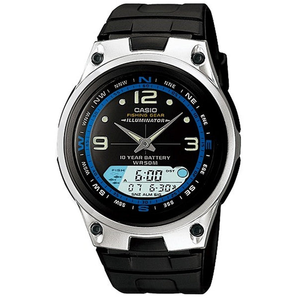 Casio Men's AW-82-1AV 'Ana-Digi' Black Resin Watch