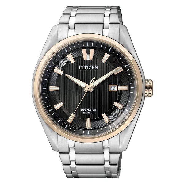 Citizen Men's AW1244-56E 'Eco-Drive' Titanium Watch