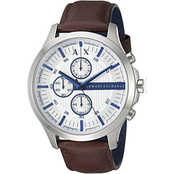 Armani Exchange Men's AX2190 'Smart' Chronograph Brown Leather Watch