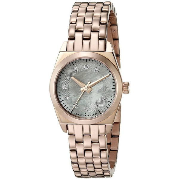 Armani Exchange Women's AX5336 'Miss Jackson' Crystal Rose-Tone Stainless Steel Watch