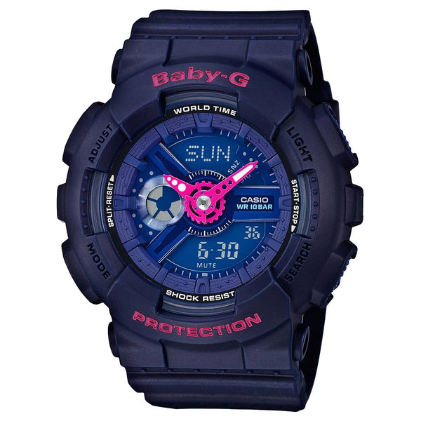 Casio Women's BA110PP-2A 'Baby-G' Analog-Digital Blue Resin Watch