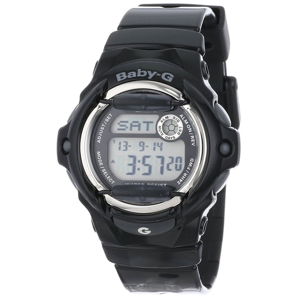 Casio Women's BG169R-1 'Baby-G' Digital Black Resin Watch