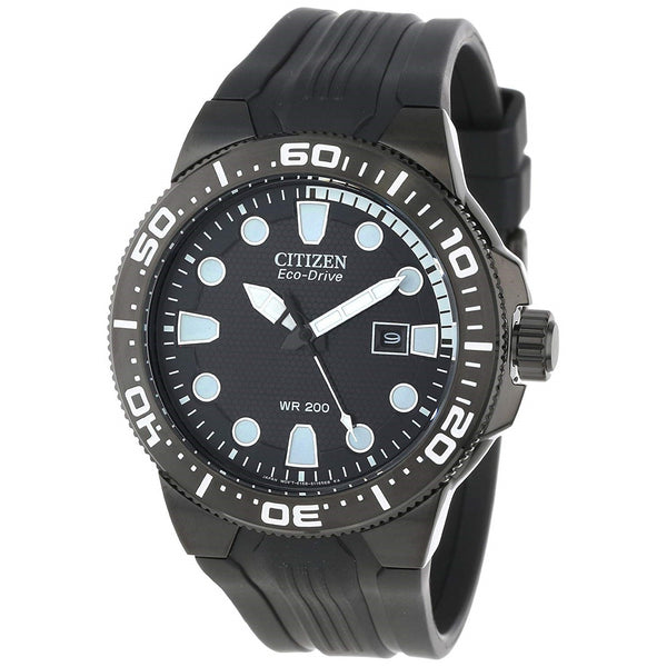 Citizen Men's BN0095-08E 'Scuba Fin' Black Rubber Watch