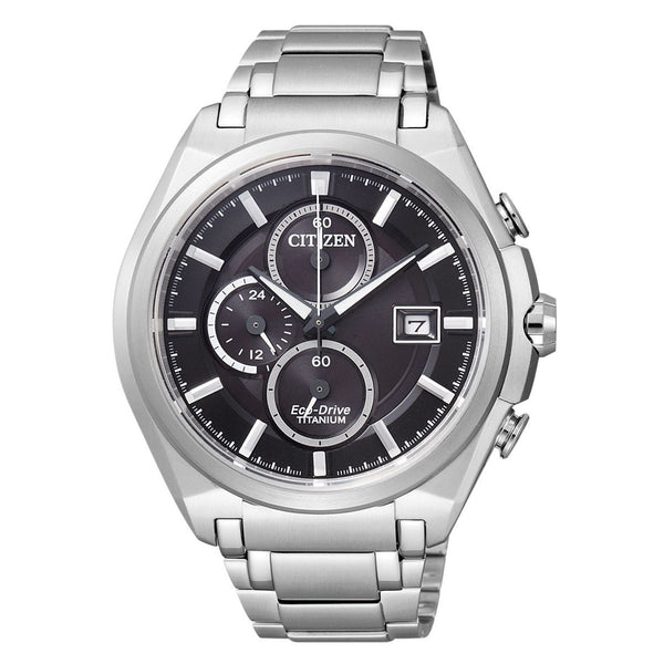 Citizen Men's CA0350-51E 'Eco-Drive Titanium' Stainless Steel Watch