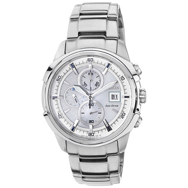 Citizen Men's CA0370-54A 'Eco-Drive' Chronograph Stainless Steel Watch