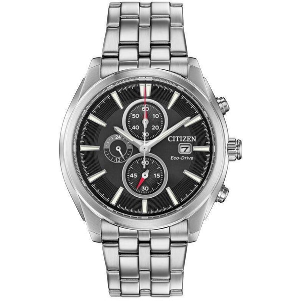 Citizen Men's CA0670-51E 'Eco-Drive' Chronograph Stainless Steel Watch