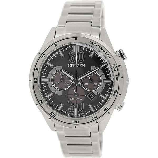 Citizen Men's CA4120-50E 'Eco-Drive' Chronograph Stainless Steel Watch
