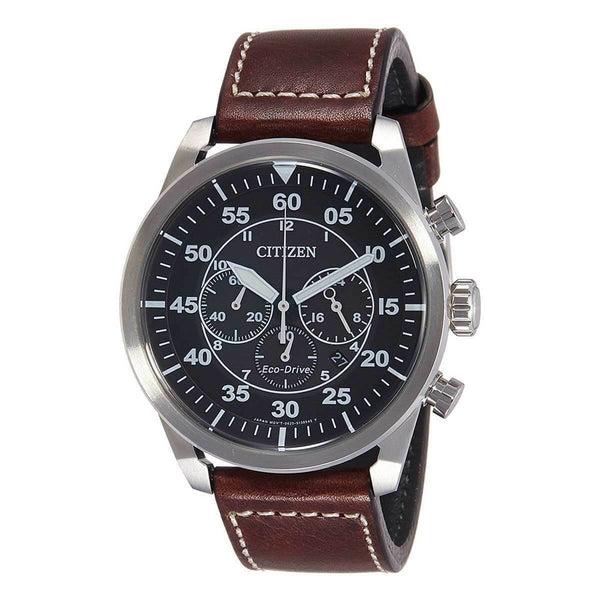 Citizen Men's CA4210-16E 'Eco-Drive' Chronograph Brown Leather Watch