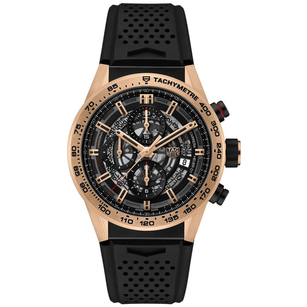 Tag Heuer Men's CAR205B.FT6087 'Carrera' Chronograph Black Rubber Watch