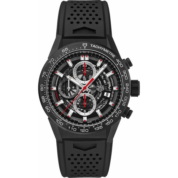 Tag Heuer Men's CAR2090.FT6088 'Carrera' Chronograph Black Rubber Watch