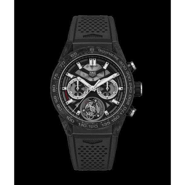 Tag Heuer Men's CAR5A8W.FT607 'Carrera' Chronograph Black Rubber Watch