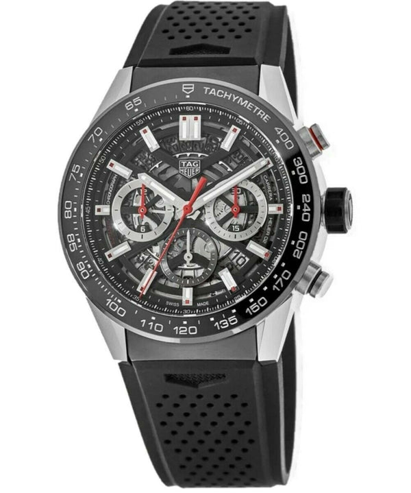 Tag Heuer Men's CBG2A10.FT6168 'Carrera' Chronograph Black Rubber Watch