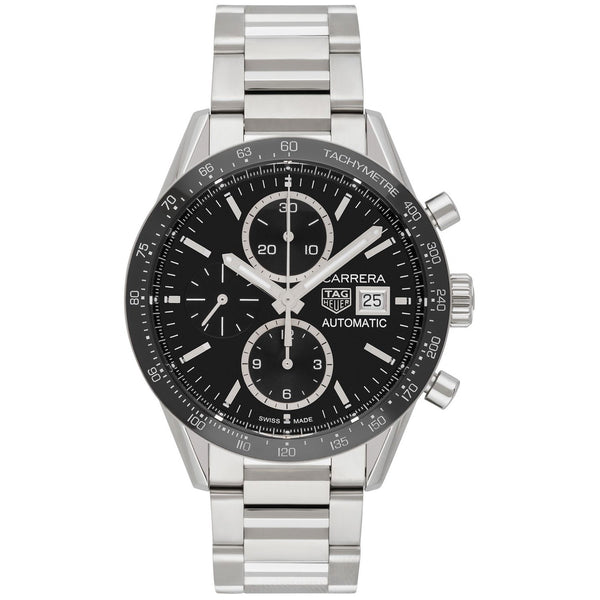 Tag Heuer Men's CV201AJ.BA0715 'Carrera' Chronograph Stainless Steel Watch
