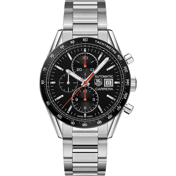 Tag Heuer Men's CV201AM.BA0723 'Carrera' Chronograph Automatic Stainless Steel Watch