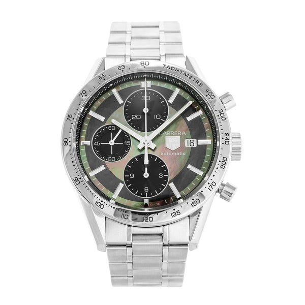 Tag Heuer Men's CV201P.BA0794 'Carrera' Chronograph Stainless Steel Watch
