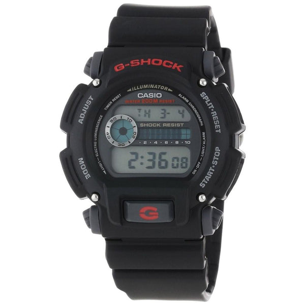 Casio Men's DW-9052-1V 'Classic' Digital Black Rubber Watch