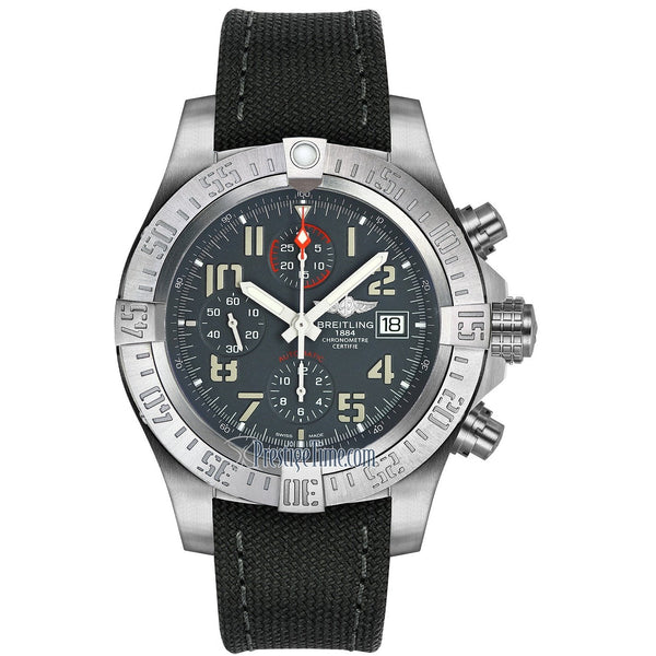 Breitling Men's E1338310-M534-109W 'Avenger' Chronograph Grey Fabric Watch