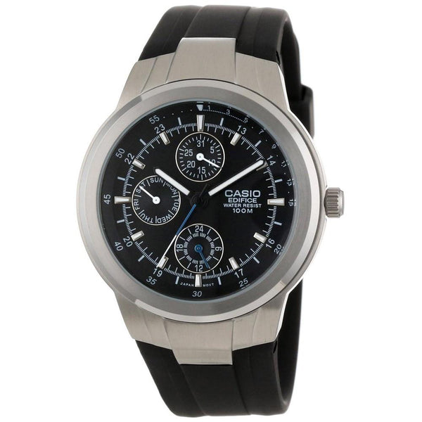Casio Men's EF-305-1AV 'Classic' Chronograph Black Rubber Watch