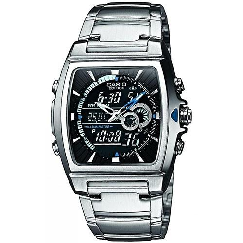 Casio Men's EFA-120D-1A 'Ana-Digi' Analog-Digital Stainless Steel Watch