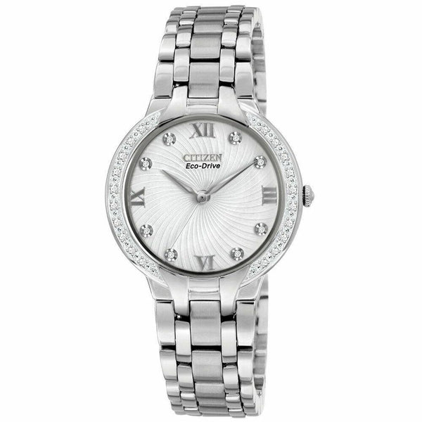 Citizen Women's EM0120-58A 'Bella' Grey Titanium Watch