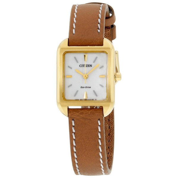 Citizen Women's EM0492-02A 'Silhouette' Brown Leather Watch