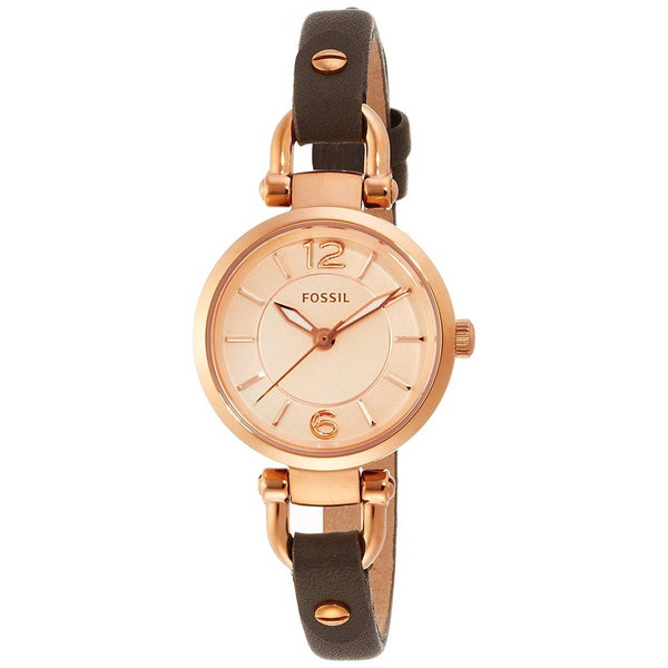 Fossil Women's ES3862 'Georgia' Brown Leather Watch