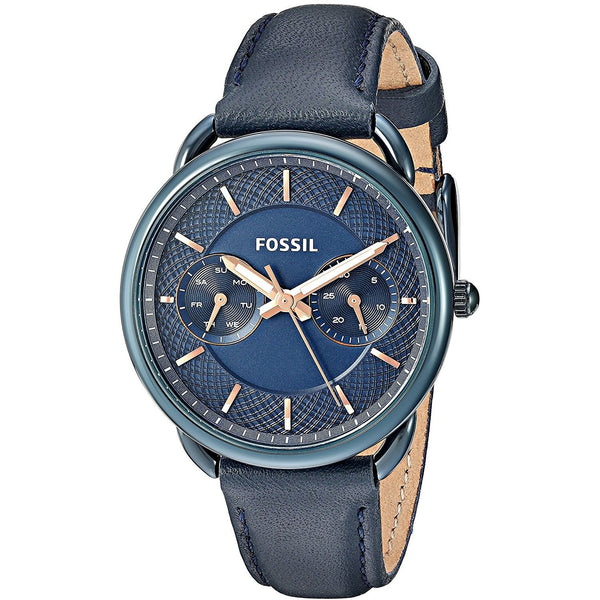 Fossil Women's ES4092 'Tailor' Multi-Function Blue Leather Watch