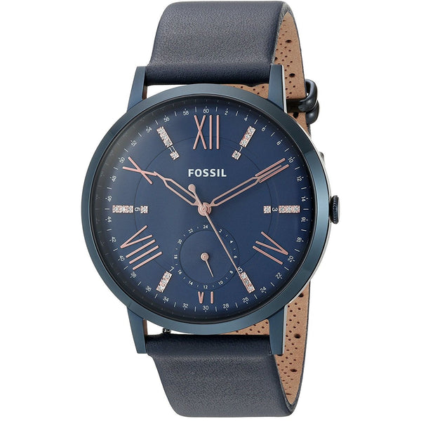 Fossil Women's ES4109 'Gazer' Crystal Blue Leather Watch