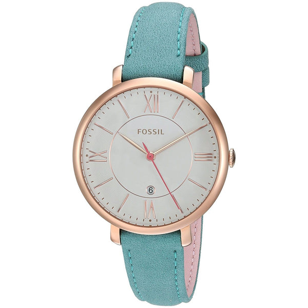 Fossil Women's ES4149 'Jacqueline' Blue Leather Watch
