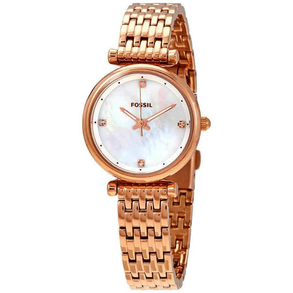 Fossil Women's ES4429 'Carlie' Rose Gold-Tone Stainless Steel Watch
