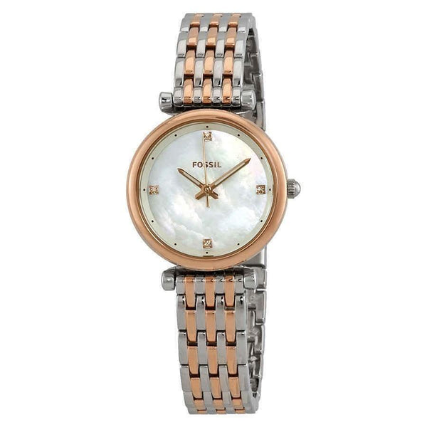 Fossil Women's ES4431 'Carlie' Two-Tone Stainless Steel Watch
