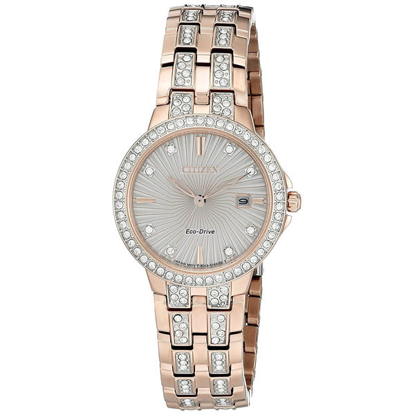Citizen Women's EW2348-56A 'Silhouette Crystal' Rose Gold-Tone Stainless Steel with Sets of Crystal Watch