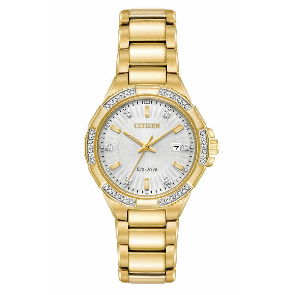 Citizen Women's EW2462-51A 'Riva' Gold-Tone Stainless Steel Watch