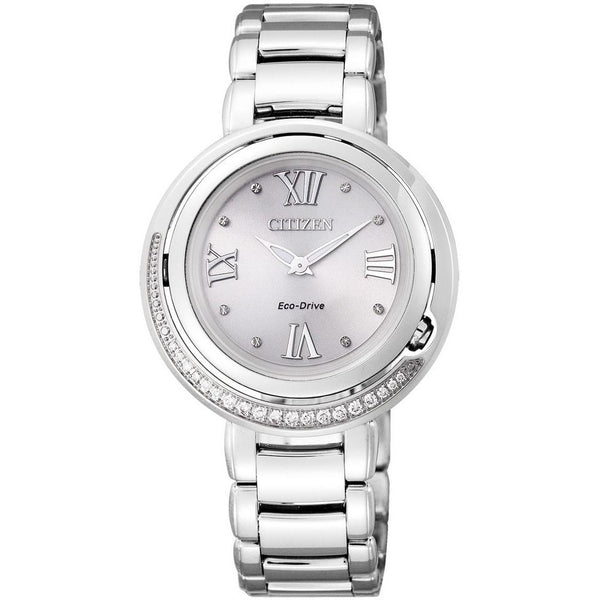 Citizen Women's EX1120-53X 'Eco-Drive' Crystal Stainless Steel Watch