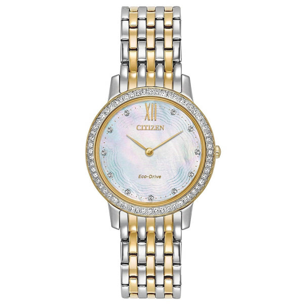 Citizen Women's EX1484-57D 'Silhouette' Two-Tone Stainless Steel Watch