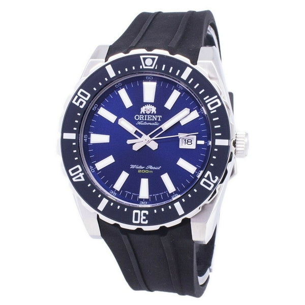 Orient Men's FAC09004D0 'Nami Mako' Black Rubber Watch