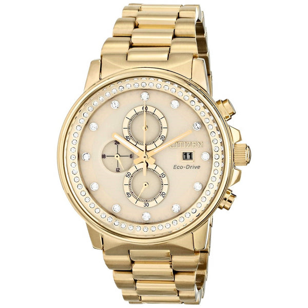 Citizen Men's FB3002-53P 'Nighthawk' Chronograph Gold-Tone Stainless Steel Watch